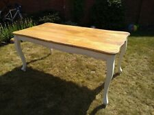 Shabby Chic style dining table painted legs & oak top