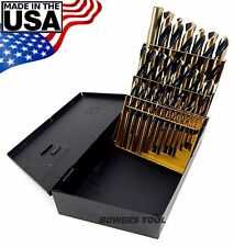 Norseman 29pc HI-Molybdenum M7 Drill Bit Set w Index 1/16-1/2 MADE IN USA SPM-29