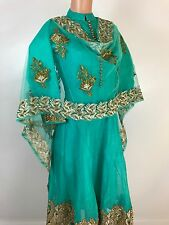 IBC $75 retail $499 Heavy Dupatta work Silk Anarkali Suit Indian  Dress 34-38