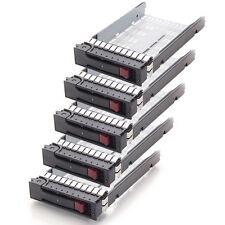 "Lot5 New 3.5"" LFF SAS Drive Tray Caddy for HP ProLiant ML350 G6 DL160 G5 DL385"
