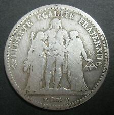 Ecu de 5 Francs HERCULE 1849 BB (STRASBOURG) - ARGENT - II° République