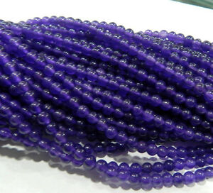 """4mm Russican Amethyst Gemstone Round Loose Beads 15"""" AA"""