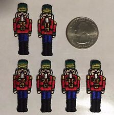 "toy soldier patch  guard nutcracker embroidered iron-on patch 1.5"" tall 6 pc lot"