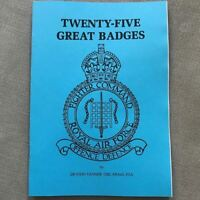 25x Royal Air Force RAF Battle of Britain Squadron Badges Guide Booklet / Book
