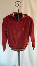 VINTAGE MENS LE TIGRE VELOUR ZIP UP JACKET TRACK SMALL STRIPED CUFFS COLLAR GUC