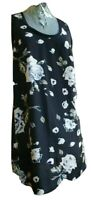 JOIE Womens Sleeveless Dress Black Floral Shift Dress Knee Length Size XS