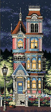Cross Stitch Kit ~ Dimensions Victorian Charm House & Kitty Cats #13666