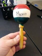Maraca Handcrafted Maraca wooden + gourd painted from Mexico percussion genuine