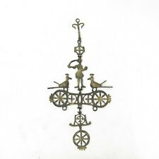 Vtg 1960's 1970's Mid Century Modern Danish Folk Art Metal Cross Wall Hanging