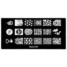 Nail Art Stamping Template Image Plates Coffee Beans and Coffee Cup Design A-02