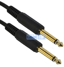 "3M GOLD 6.35mm MONO 1/4"" Guitar Lead Amp Keyboard Jack to Jack Audio Cable"