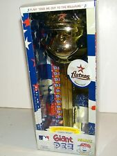 "Giant 12"" Pez Dispenser Peanuts Charlie Brown Houston Astros Baseball Gold Edit."