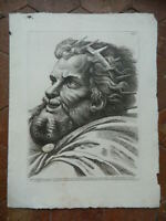 Kunstblatt Porträt Massenzio Gravur Radierung Paolo Fidanza Nach Raphael 18th