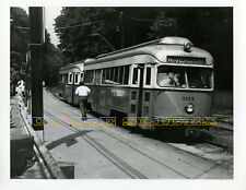Original Trolley Photo PCC MBTA Boston Kodak 1973 Trolley Streetcar Railroad RR