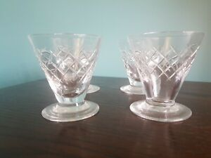 4 Webb Crystal Sorbet / Cocktail Glasses