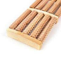 5Raw Wooden Wood Roller Foot Massager Stress Relief HealthTherapy Relax Massage、
