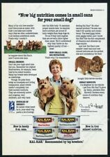 1986 Norwich Terrier dogs & breeder photo Kal Kan dog food vintage print ad