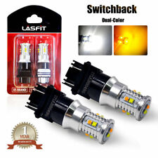 LASFIT 3157 LED Rear Turn Signal Light Bulb Dual Color for Ford 6000K Switchback