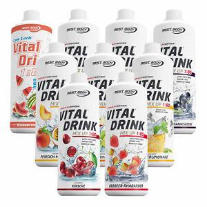 Best Body Low Carb Vital Drink Mineraldrink Konzentrat 1L Flasche Getränkesirup