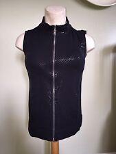f850091727679 Susan Graver Weekend French Terry Vest W/ Sparkles Size XXS Black NWOT
