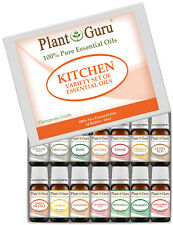 Kitchen Essential Oil Set Sampler Kit 14 -10 ml 100% Pure Therapeutic Grade Lot