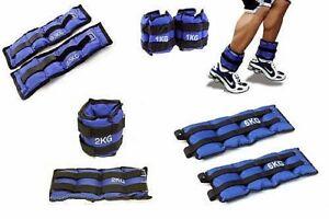 Pesi per caviglie e polsi sport fitness aerobica palestra 1 2 3 4 5 6 kg muscoli