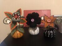 Hyde and Eek Target Halloween Ghoulish Garden Creepy Succulents 3 Pack In Hand