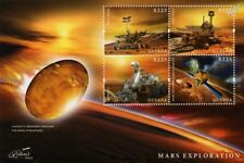 MARS EXPLORATION Curiosity/Spirit/Rover/Orbiter Space Stamp Sheet (2013 Guyana)