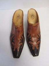 Charlie 1 Horse Shoes 10 B Brown Mules Slides Boots Western Womens