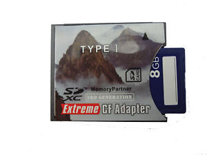 SD to CF Adapter Extreme SDHC/SDXC To CompactFlash CF Type I Memory Card