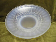 1930's french opalescent art glass fruit bowl / center piece rafters Sabino st