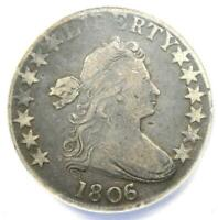 1806/5 Draped Bust Half Dollar 50C Coin - Certified ANACS VF20 Details!