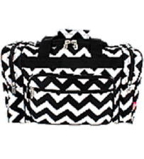 "17"" Black/White Chevron Print  Duffle Bag-NWT"