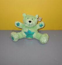 "8"" Carlton Cards Astrology Bear Month of May Taurus Green Teddy Bear Bean Plush"