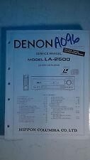 Denon la-2500 service manual original repair book cd laser disc player cdv