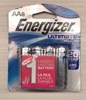 Energizer Ultimate Lithium AA Batteries L91BP-8 - 8 pack