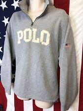 Vintage Ralph Lauren Polo Sport Spellout Sweatshirt Shirt Snow Beach Ski 92 2Xl