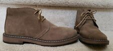 Joseph Abboud Mens Brown Suede Chukka Boots Low Lace Up SZ 8- MINT!!!