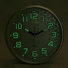 """Wall Clock Non Ticking Silent Night Lights Large Number Battery Operated 13"""""""