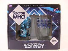 Doctor Who Segunda Doctor Vidrio Juego De 2 Nuevo Excelente Regalo 16oz 473ml