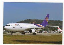 Thai Airways A300B4-622R Aviation Postcard, A703