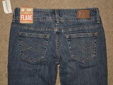 Aeropostale Size 00 Short Hailey Flare Super Low Rise Stretch Denim Womens Jeans