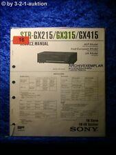 Sony Service Manual STR GX215 / GX315 / GX415 Reciever (#0016)