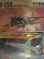 F-5E TIGER II;F-15E STRIKE EAGLE;ITALERI IN SCALA 1:72