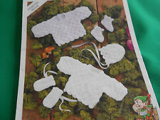 Baby's angel top,matinee coat,bonnet,mitts,boots size 10-18 knitting pattern