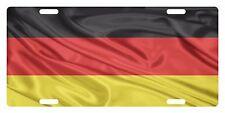GERMANY Flag Custom License Plate GERMAN Emblem Wave Version