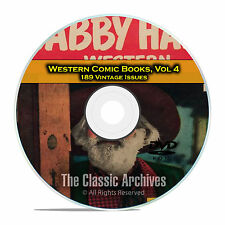 Western Comic Books, Vol 4, Gabby Hayes, Tex Ritter, Tom Mix, Golden Age DVD D62