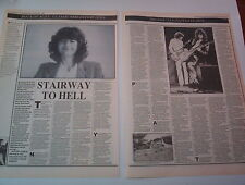LED ZEPPELIN  JIMMY PAGE STAIRWAY TO HELL 1989 2 page UK  ARTICLE / clipping