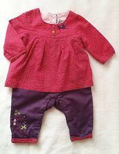 Combinaison coton fuchsia prune bébé fille 3 MOIS ORCHESTRA