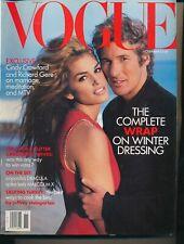 VOGUE November 1992 Fashion Magazine CINDY CRAWFORD and RICHARD GERE Cover VF